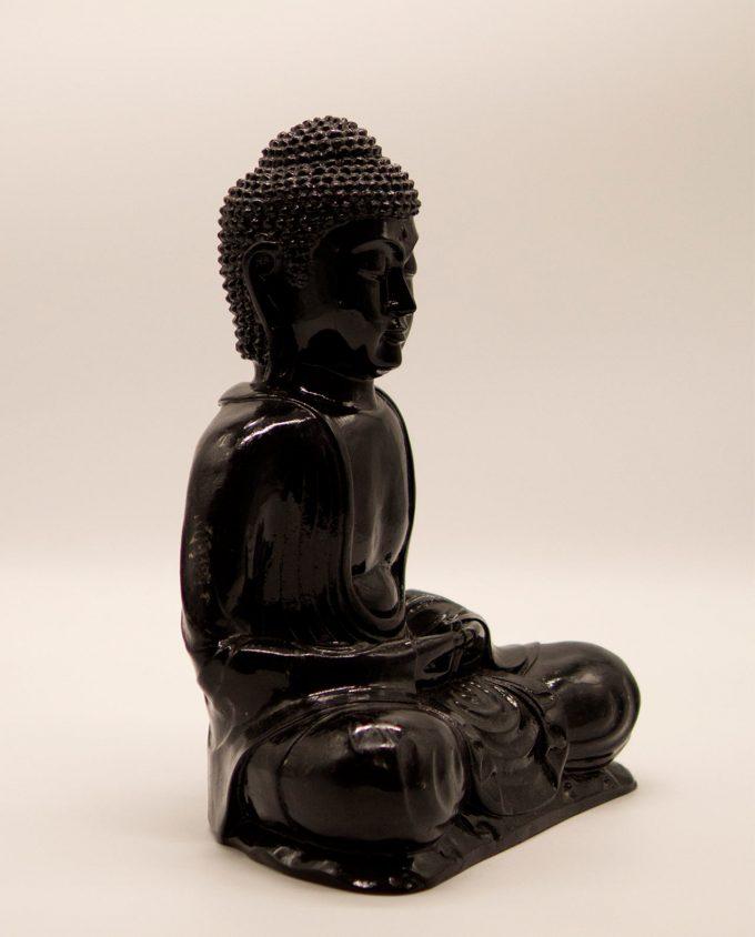 Βούδας ρητίνη ύψος 30 cm μαύρος
