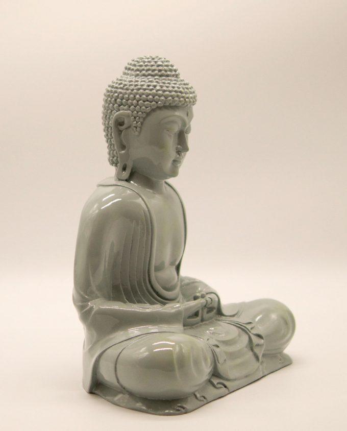 Βούδας ρητίνη ύψος 30 cm γκρι