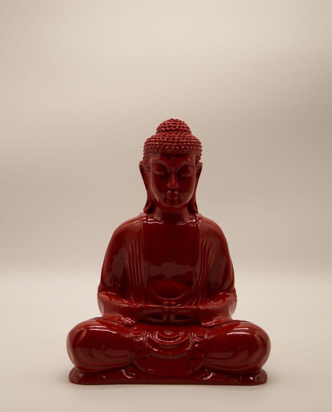 Βούδας ρητίνη κόκκινος ύψος 30 cm