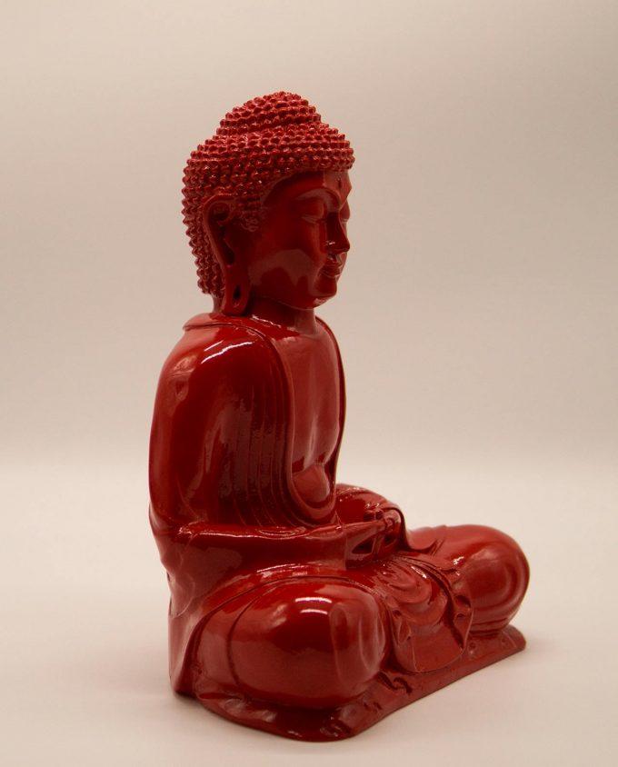 Βούδας ρητίνη ύψος 30 cm κόκκινος