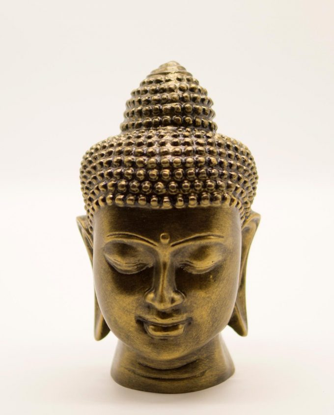 Κεφάλι Βούδα ρητίνη ύψος 20 cm χρυσό αντικ