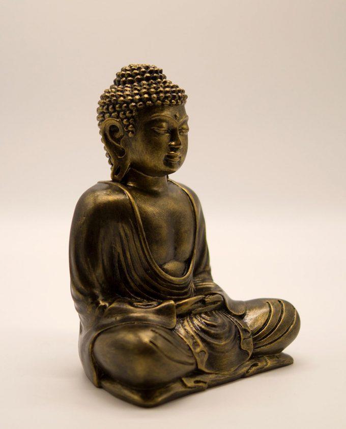 Βούδας ρητίνη ύψος 20 cm χρυσό αντικ