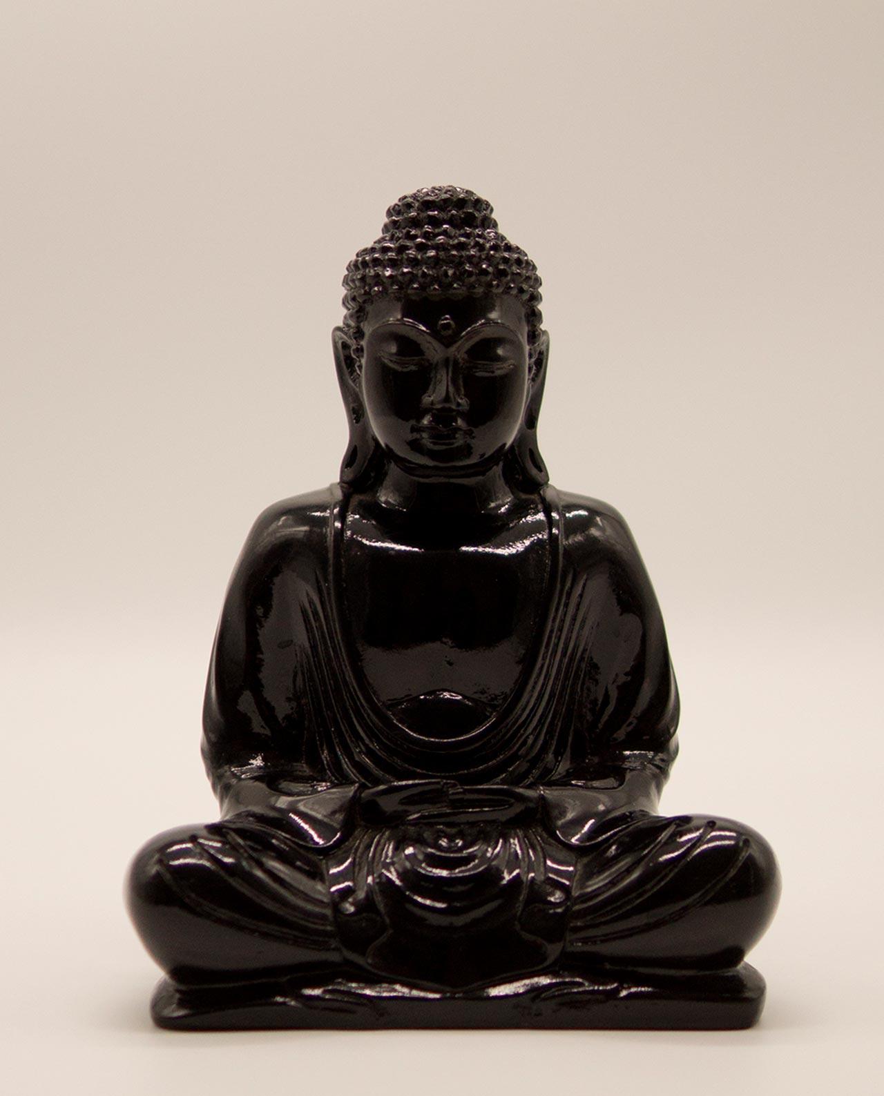 Βούδας ρητίνη ύψος 20 cm μαύρο