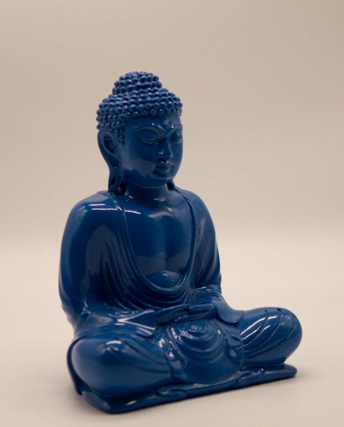Βούδας ρητίνη ύψος 20 cm μπλε