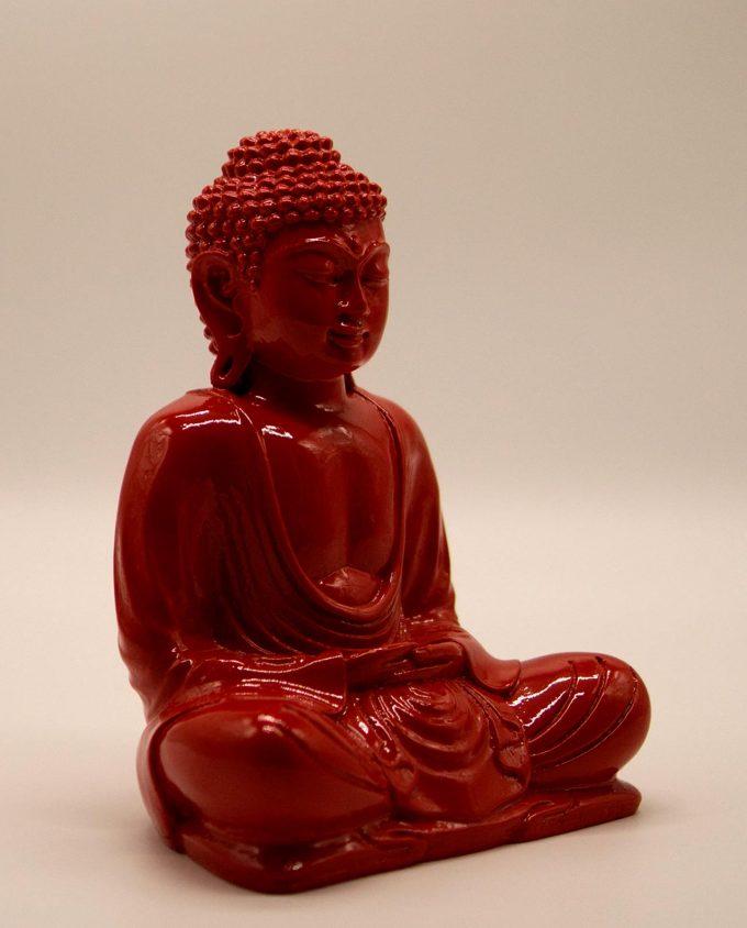 Βούδας ρητίνη ύψος 20 cm κόκκινο