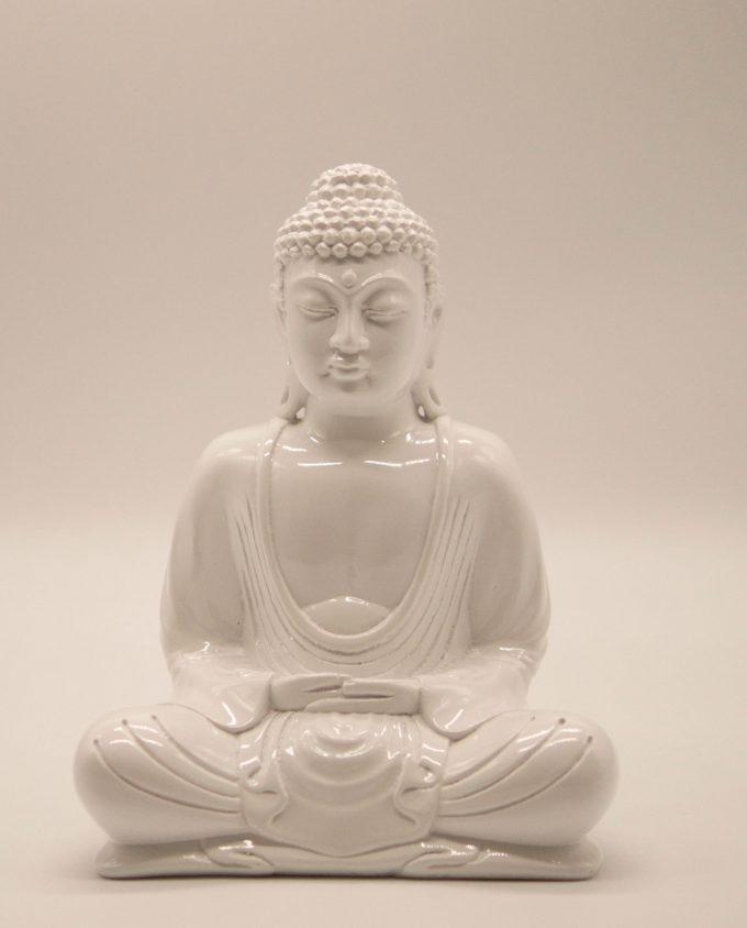 Βούδας ρητίνη ύψος 20 cm άσπρο