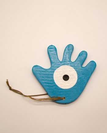 Χέρι ματάκι ξύλινο χειροποίητο διαμέτρου 12 cm