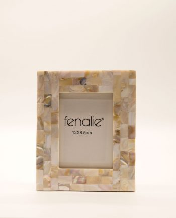 Picture frame mother of pearl white small