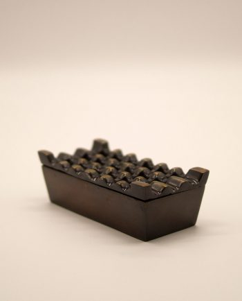 Ashtray aluminium brown antique 3 x 6 holes
