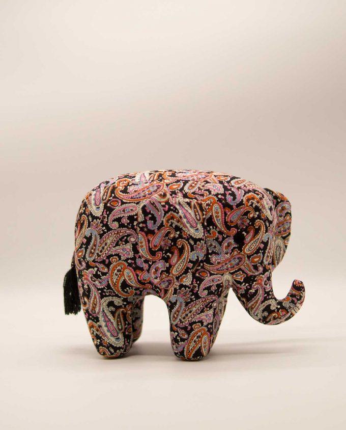 Ελέφαντας μπατικ υφασμάτινος χειροποίητος μεγάλος μαύρος