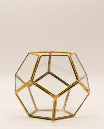 lantern disco metallic copper gold diameter 15 cm