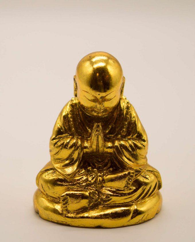 Μοναχός ρητίνη ύψος 10 cm χρυσός