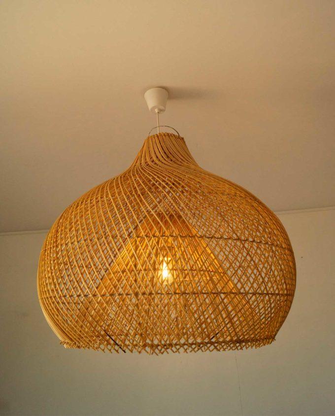"""Lamp hanging Rattan natural """"Pumpkin"""" diameter 70 cm"""