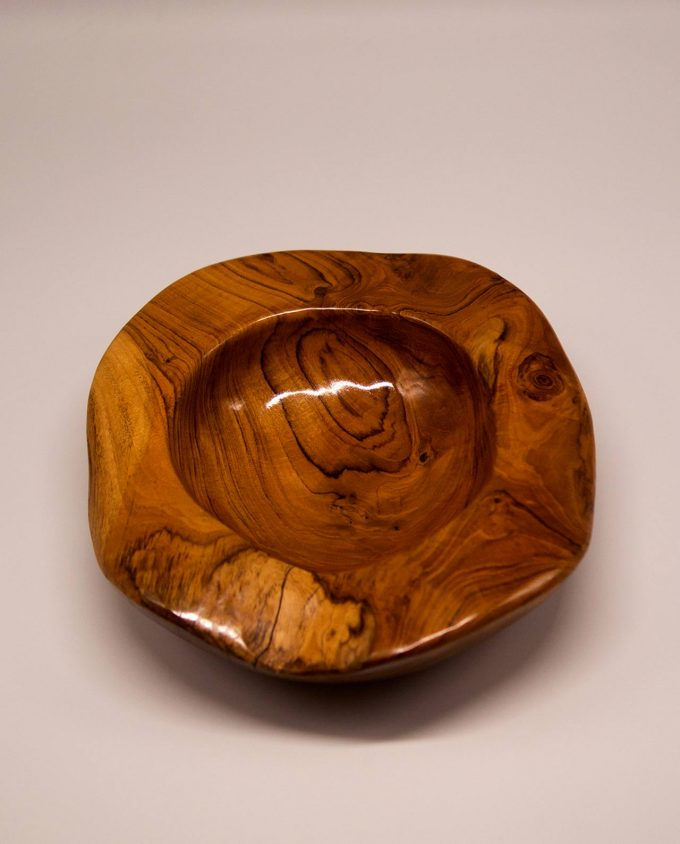 """Μπωλ ξύλο Τικ """"Shiny"""" διαμέτρου 30 cm"""