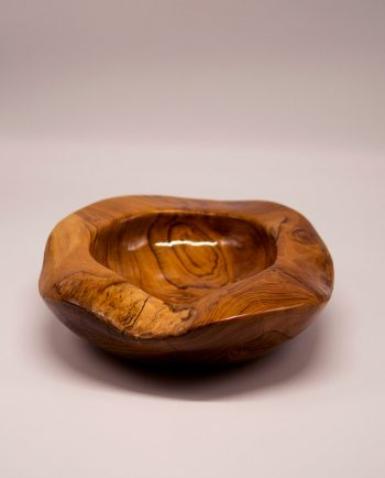"Bowl teak wood ""Shiny"" diameter 30 cm"