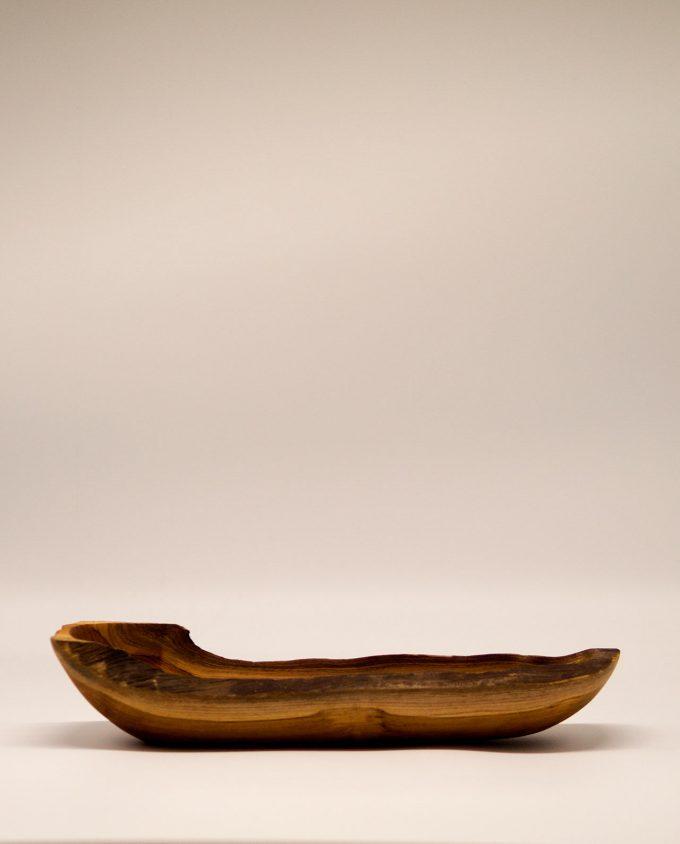 Μπωλ ξύλο Τικ μακρόστενο 35 cm x 10 cm
