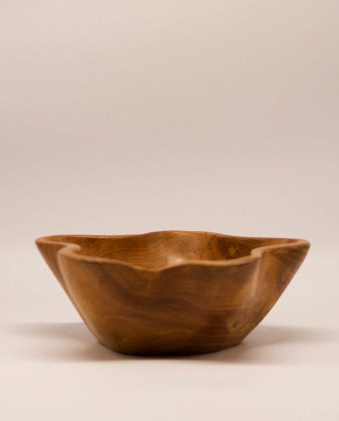 Μπωλ ξύλο Τικ σχήμα λουκουδιού διαμέτρου 28 cm