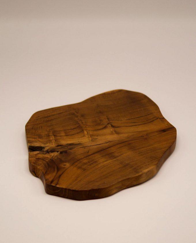 Πλατώ ξύλο τικ ακανόνιστο διαμέτρου 25 cm