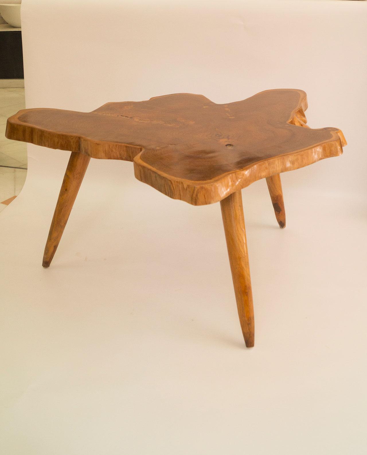 Τραπέζι ξύλο Τικ ύψος 48 cm