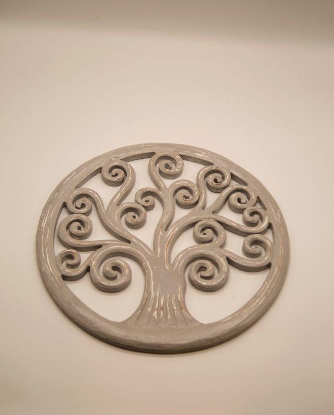 Δέντρο ζωής γκρι ξύλινο διαμέτρου 40 cm