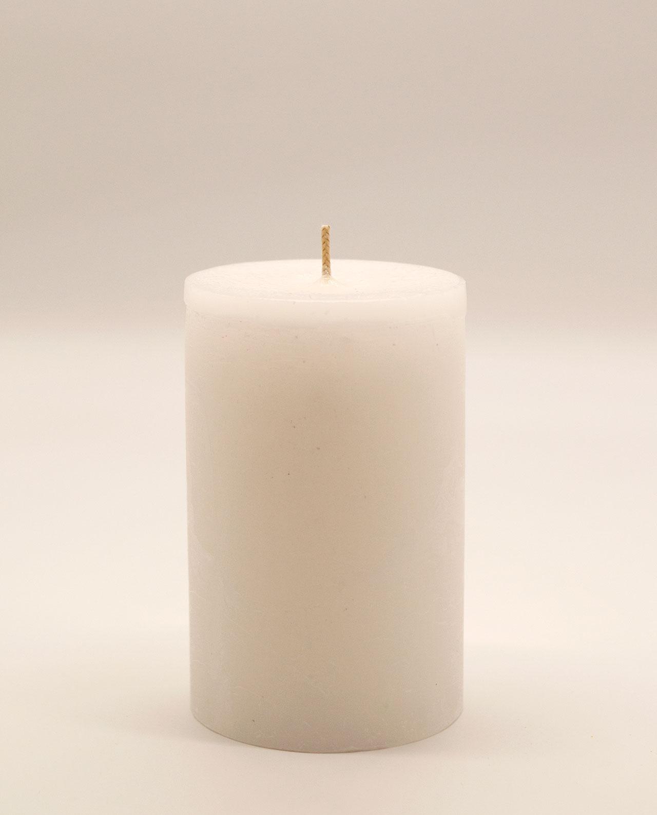 Κερί άσπρο αρωματικό ρουστικ διαμέτρου 10 cm, υψους 15 cm