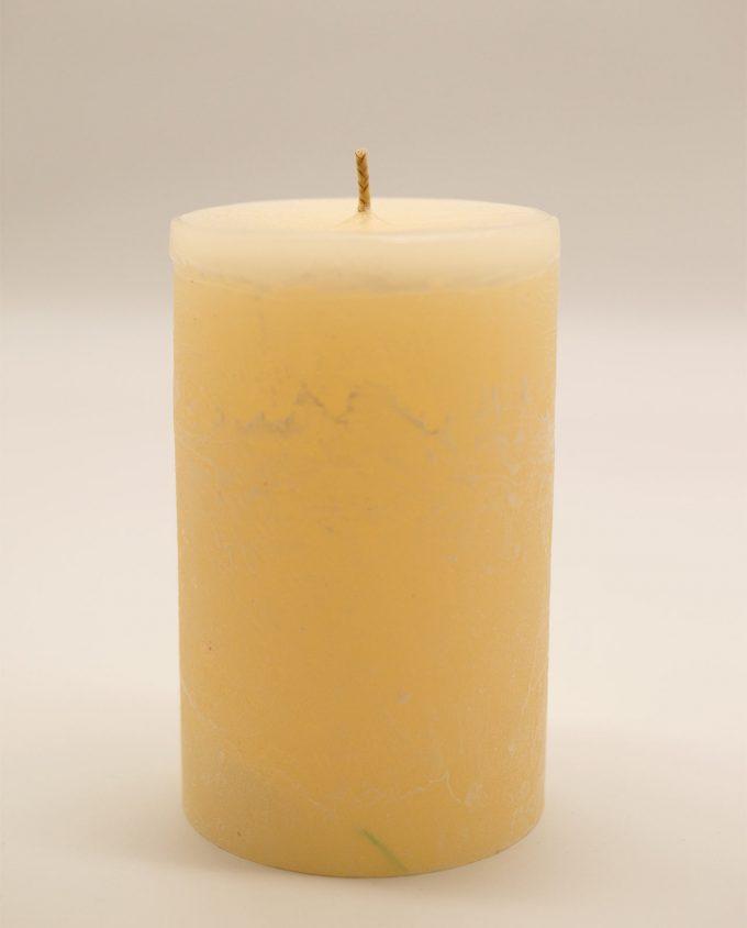 Κερί μπεζ αρωματικό ρουστικ διαμέτρου 10 cm, υψους 15 cm