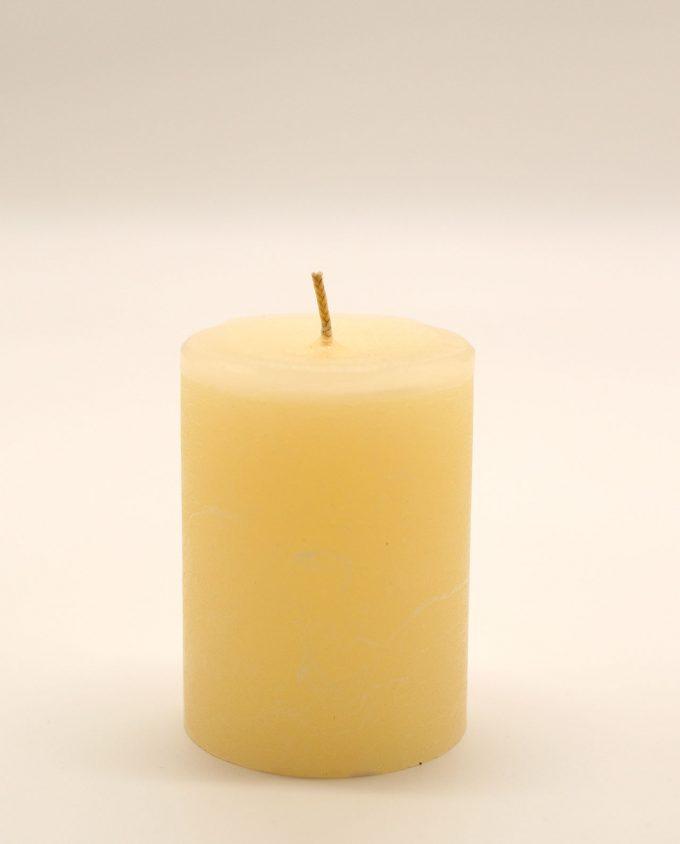 Κερί μπεζ αρωματικό ρουστικ διαμέτρου 7 cm, υψους 10 cm
