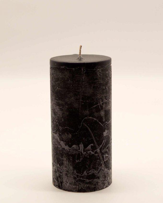 Κερί μαύρο αρωματικό ρουστικ διαμέτρου 7 cm, υψους 15 cm