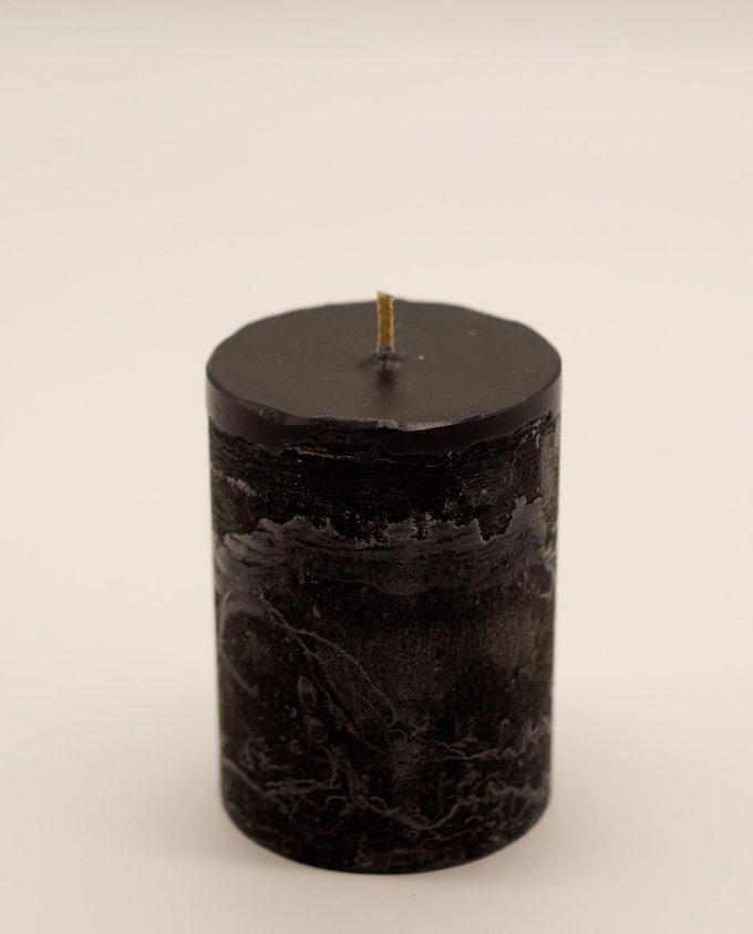 Κερί μαύρο αρωματικό ρουστικ διαμέτρου 7 cm, υψους 10 cm