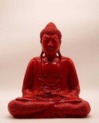 Βούδας ρητίνη ύψος 40 cm κόκκινος
