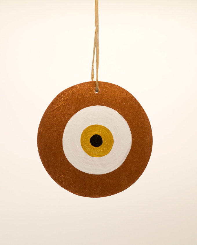 Ματάκι ξύλινο χειροποίητο χρυσό διαμέτρου 13 cm