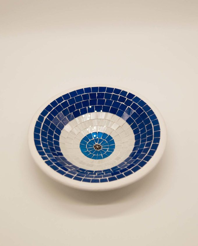 Bowl ceramic mosaic medium