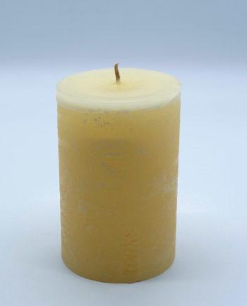 Κερί μπεζ ρουστικ διάμετρος 10 cm ύψος 15 cm