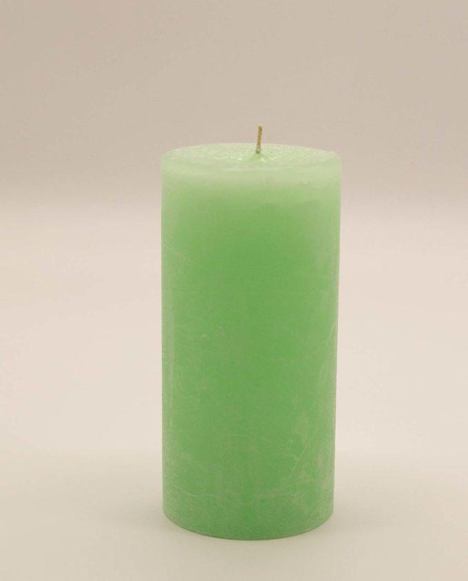 Κερί μασιφ πράσινο αρωματικο ύψος 15 cm, διαμέτρου 7 cm