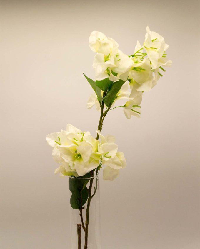 Bougainvillea fabric white