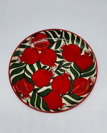 """Plate ceramic """"Pomegranates"""" diameter 32 cm"""