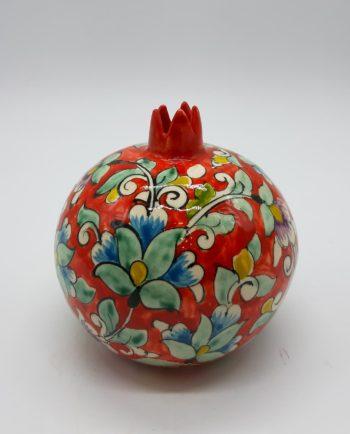 Pomegranate ceramic round orange diameter 11 cm