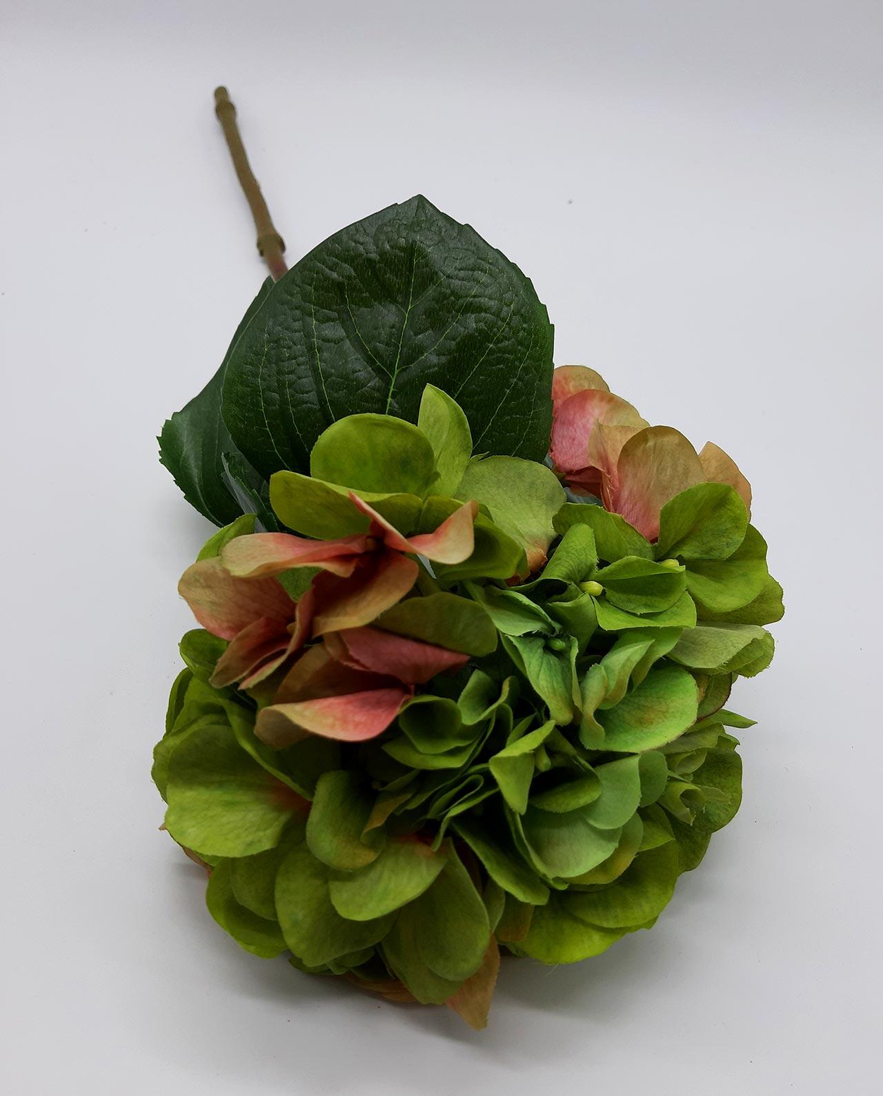 Ορτανσία υφασμάτινη πράσινη ύψους 65 cm