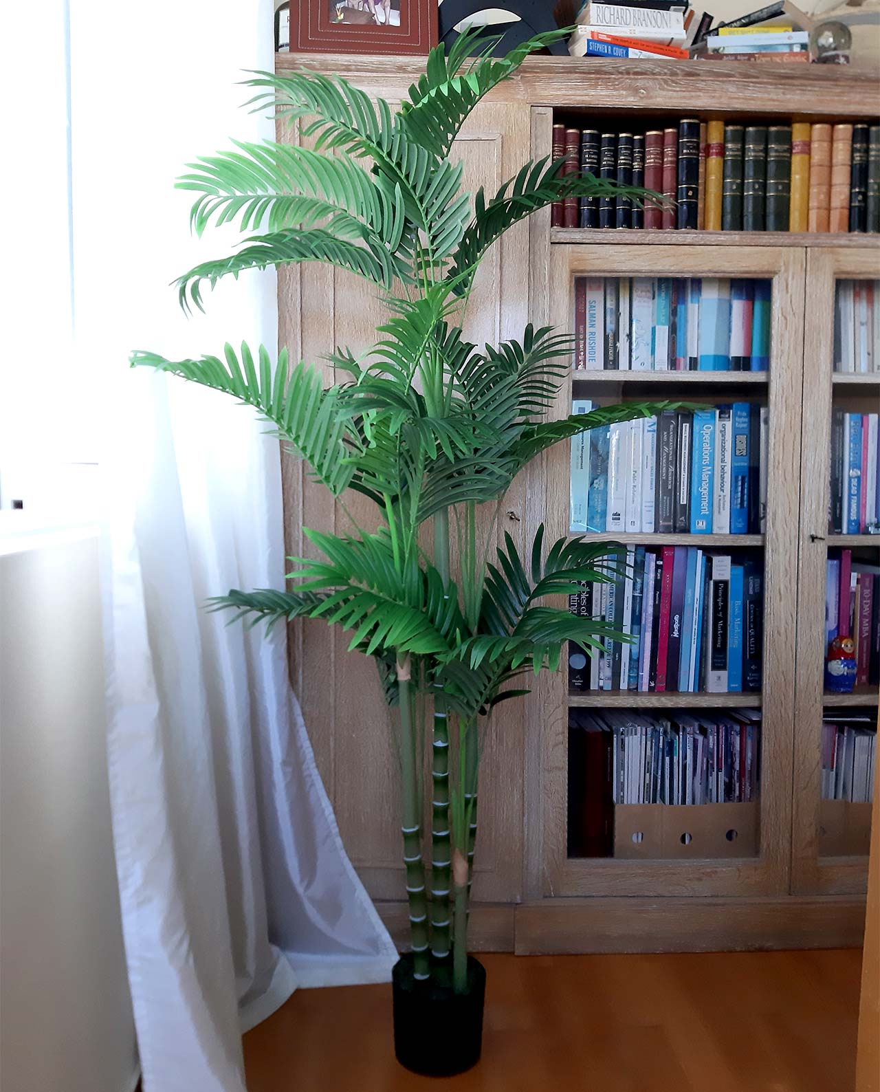 Palm tree in pot artificial height 150 cm