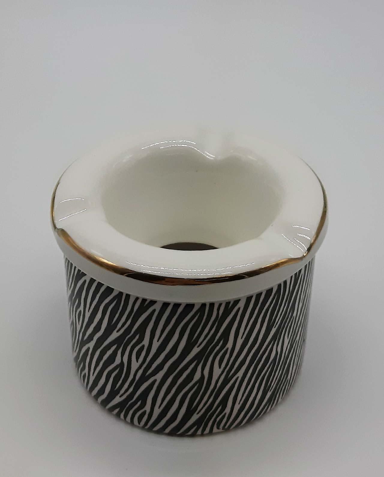 """Τασάκι κεραμικό """"Zebra I"""" διαμέτρου 10 cm"""