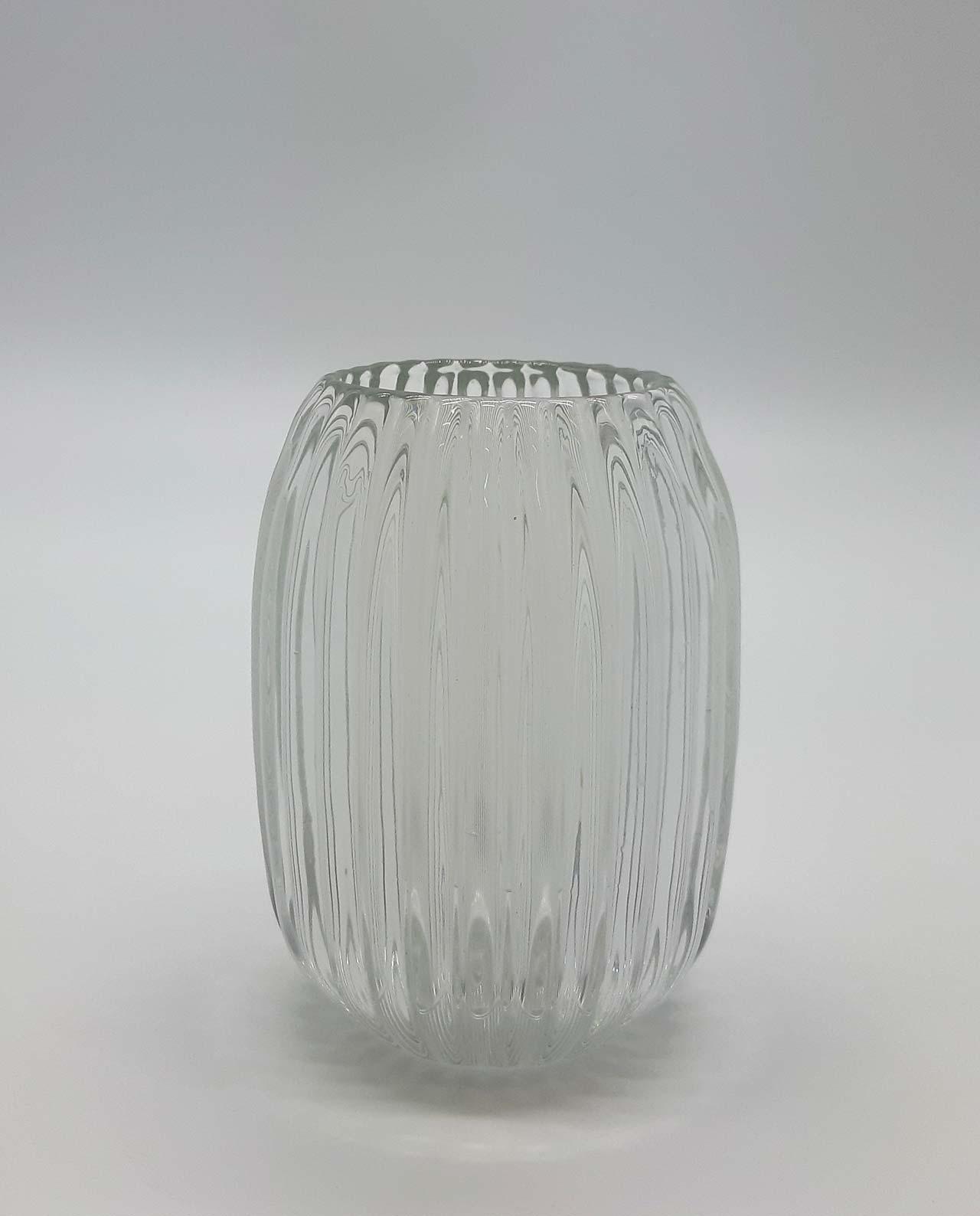 Ρεσώ γυάλινο ριγωτό διαφανές ύψος 13 cm