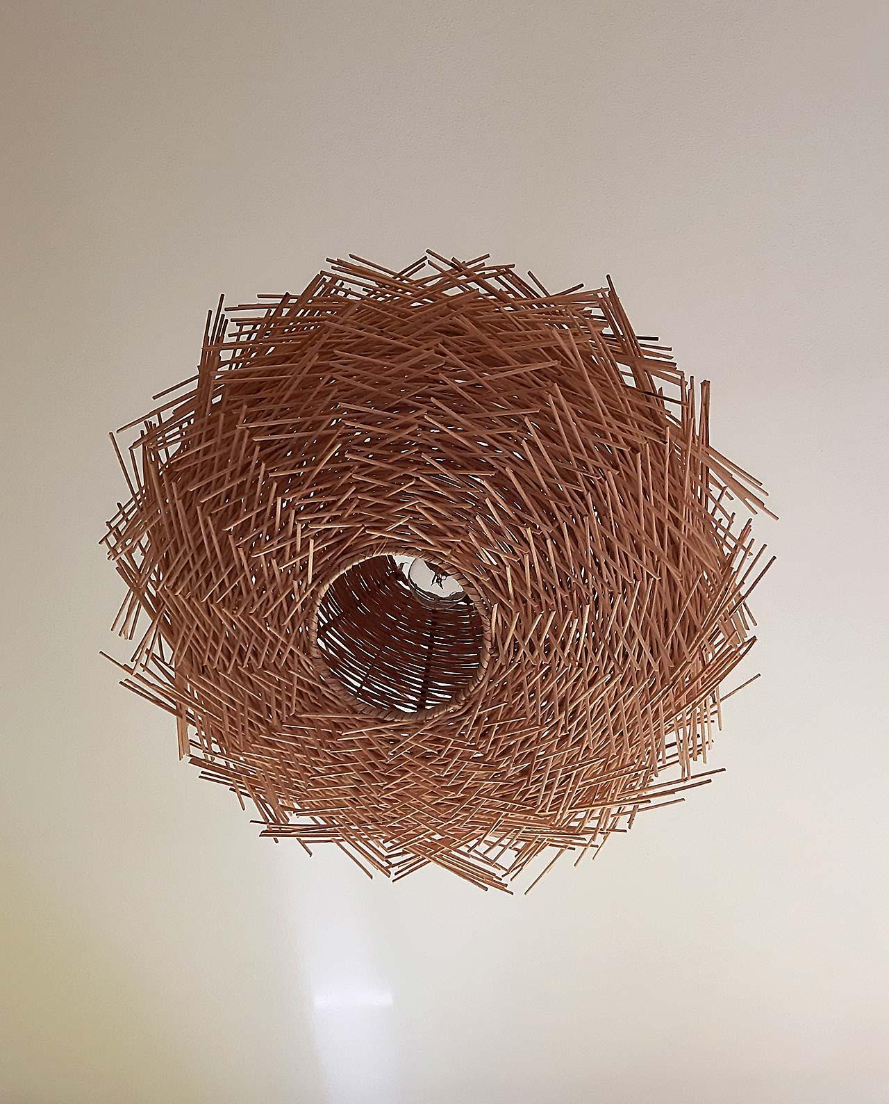 Φωτιστικό οροφής Ρατταν «Urchin» διαμέτρου 60 cm
