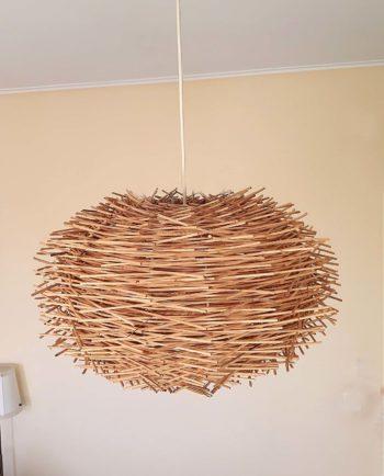 Hanging lamp Rattan «Urchin» diameter 50 cm