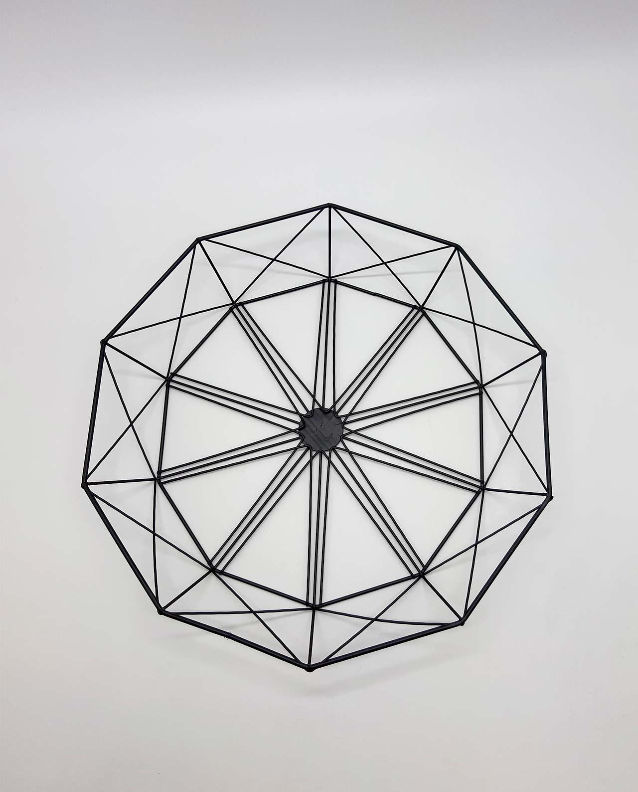 """Πιατέλα μεταλλική """"Geometry"""" διαμέτρου 38 cm"""
