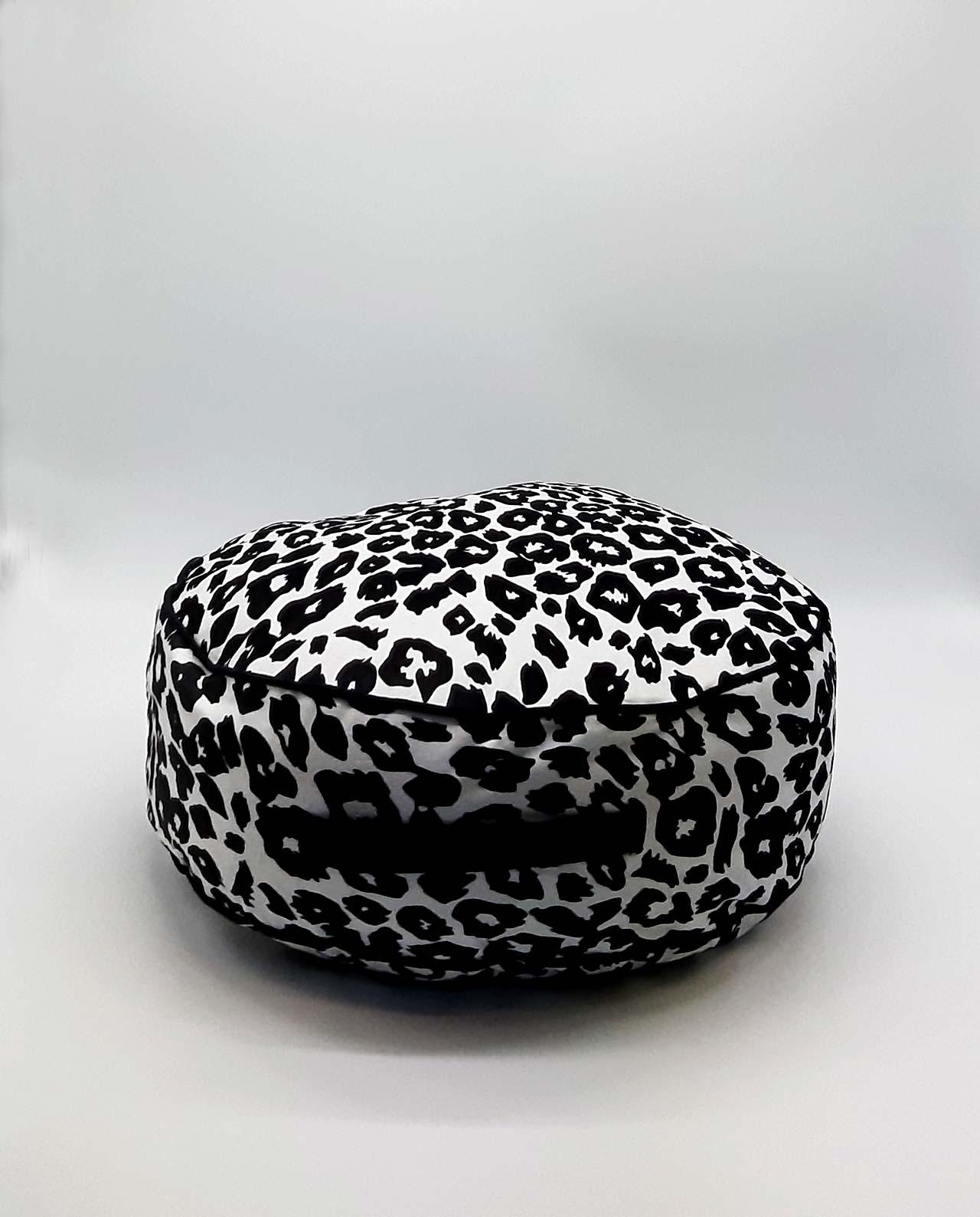 """Πουφ """"Leopard"""" διαμέτρου 45 cm"""