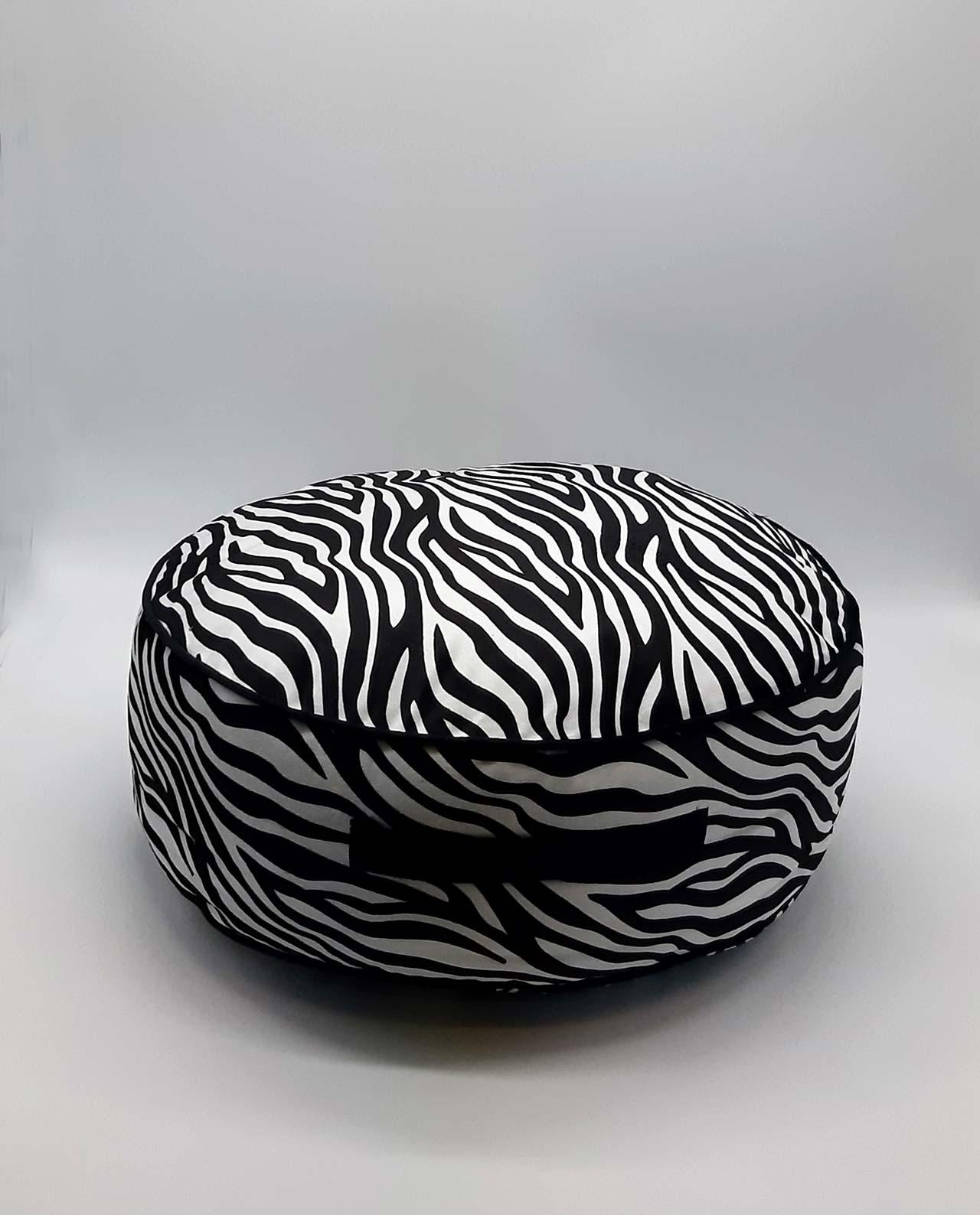 """Πουφ """"Zebra"""" διαμέτρου 45 cm"""