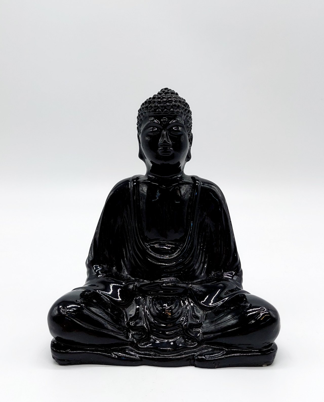Buddha Resin Height 15 cm black