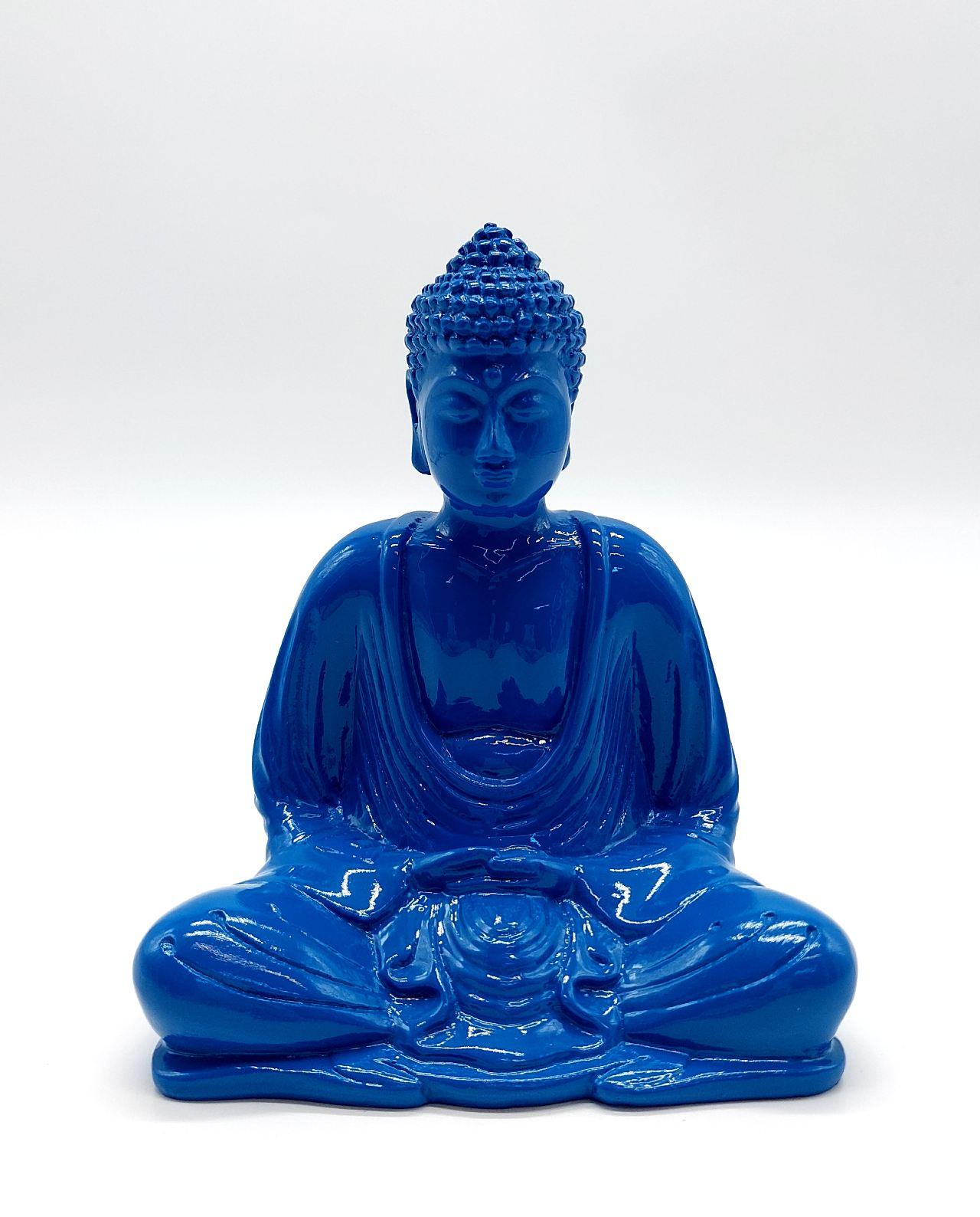 Buddha Resin Height 15 cm blue