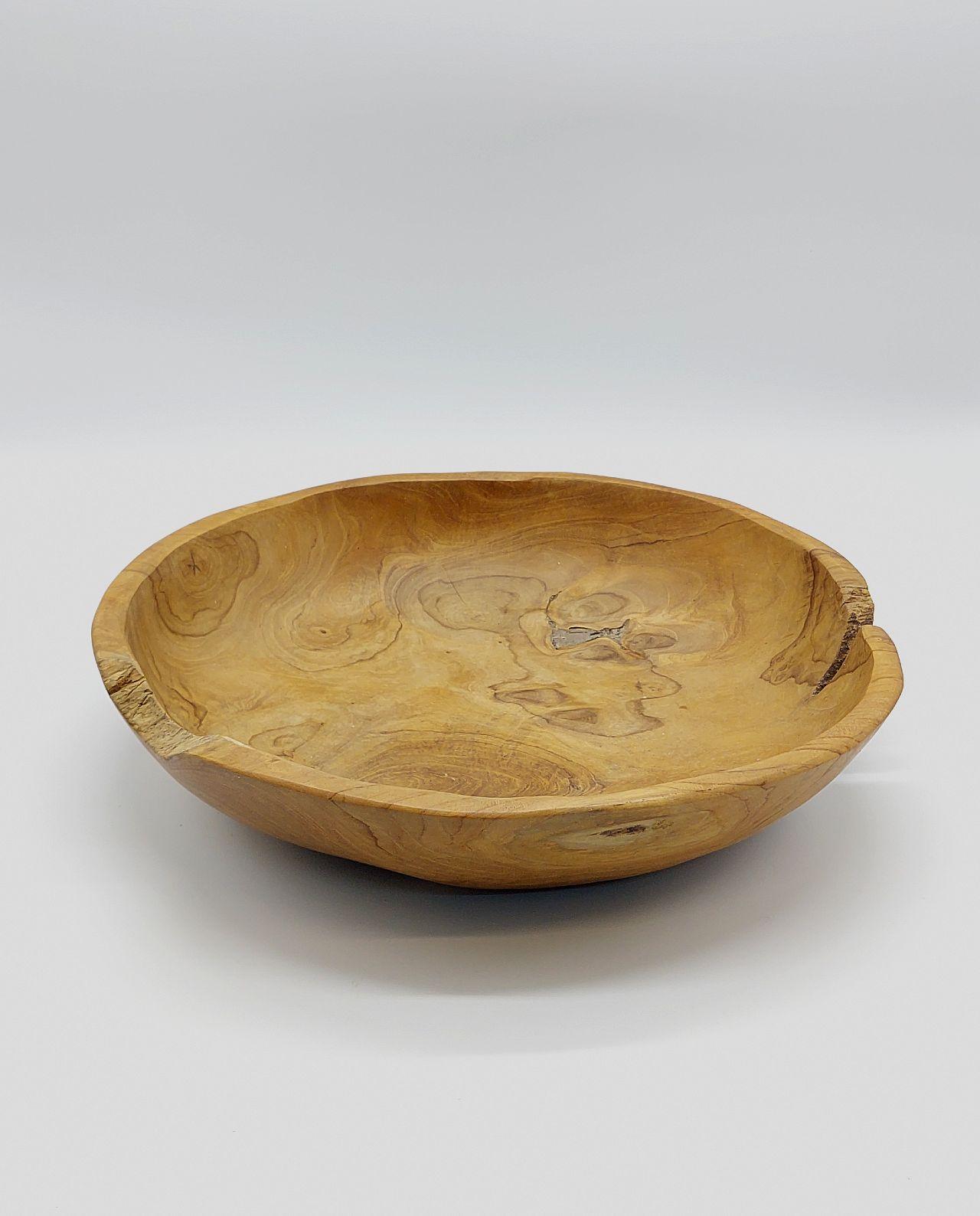 Bowl Teak Wood Diameter 40 cm