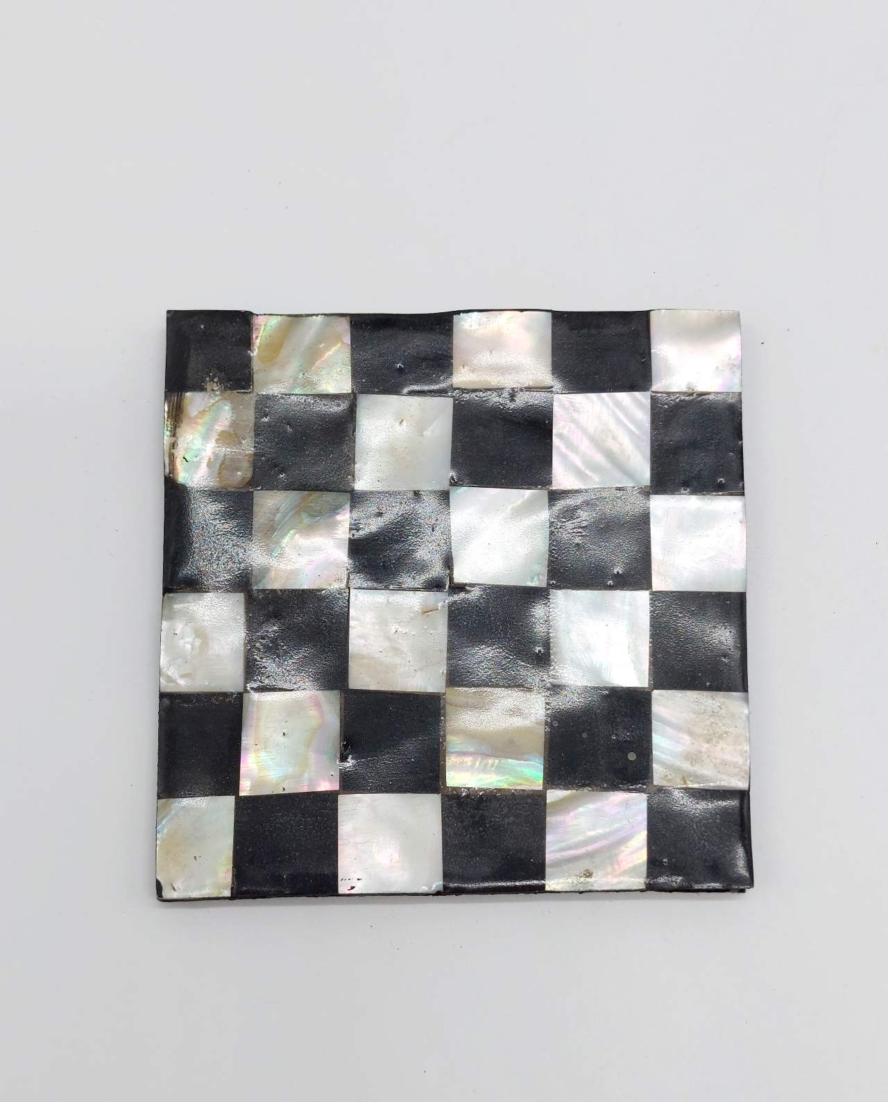 """Coaster Mother of Pearl """"Chess"""" Set 6 pieces"""